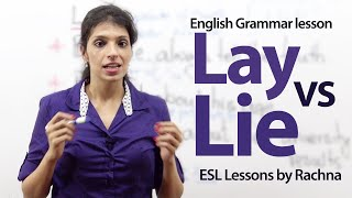 The difference between 'Lay' and 'Lie' - English Grammar lesson