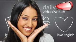 Daily  Vocabulary and phrases E11  | Spoken English  ESL lesson, Pronunciation & Accent