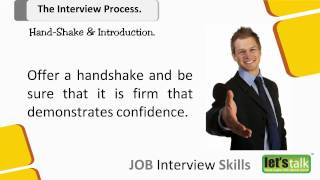 Job Interview skills Training  -  Part 4.1 Hand Shake in an Interview