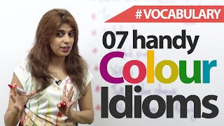 07 Handy Colour Idioms - English Vocabulary Lesson
