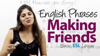 Useful phrases for making friends -- Basic English Vocabulary / Phrases Lesson ( ESL)