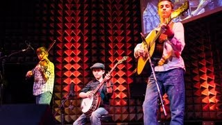 Teenaged boy wonders play bluegrass