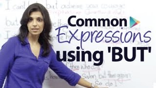 Using the expression 'BUT' in different ways - Free English Grammar Lesson