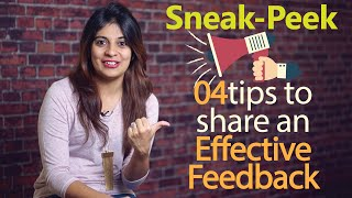 New upload at Skillopedia - How to share an effective feedback? ( Business Communication skills)