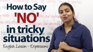 Business English Lesson - How to Say 'NO' in sticky situations