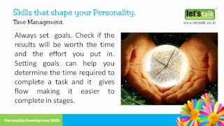 Time Management - Personality Development Skills part 6 ( www.letstalk.co.in (