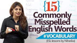 Learn English – 15 most common misspelled words in English ( Free spoken English lessons)