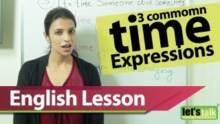 English Grammar Lesson : Using the common expression - IT'S TIME. Learn English for Free.