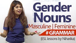 English Grammar lesson - Gender Nouns ( Learn Fluent English)