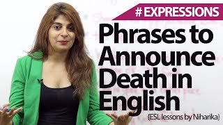 English phrases & Expressions to announce death - Free Spoken English lessons