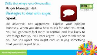 Anger Management - Personality Development Skills Part 8 ( www.letstalk.co.in )
