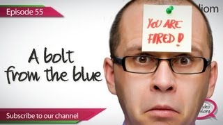 Daily Video Vocabulary -  Episode 55 ( ESL) - A bolt from the blue  Spoken English lesson