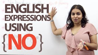 12 Spoken English Expressions with the Word 'NO' - Free ESL lesson