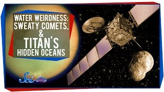 Water Weirdness: Sweaty Comets, and Titan's Hidden Oceans