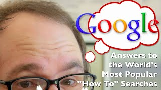 "How to Tie a Tie, Kiss, Flirt, & More! (Top 10 Google ""How To""s Explained)!"