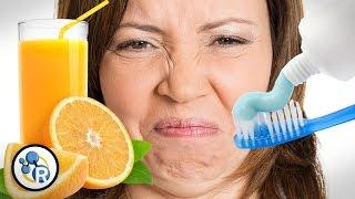 Why Does Toothpaste Make Orange Juice Taste Bad?