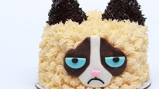 GRUMPY CAT CAKE - NERDY NUMMIES